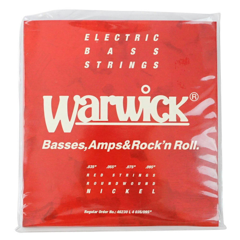 WARWICK 46230 RED nickel 4-string Set L 035-095 ベース弦