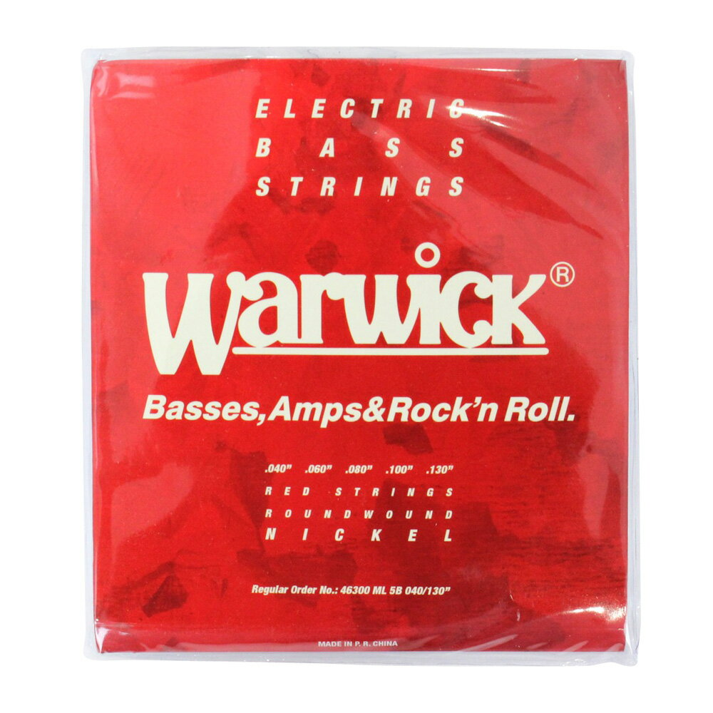 WARWICK 46300 RED nickel 5-string Set ML Low B 040-130 5弦ベース弦