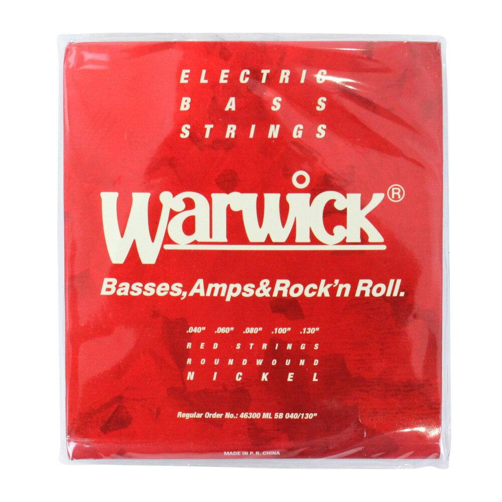 WARWICK 46300 RED nickel 5-string Set ML Low B 040-130 5弦ベース弦