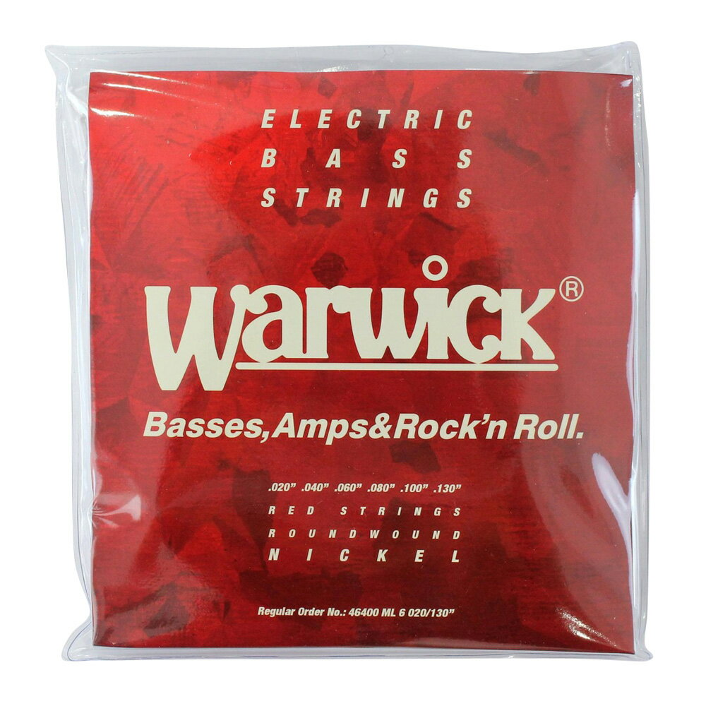 WARWICK 46400 RED nickel 6-string Set ML 020-130 6弦ベース弦