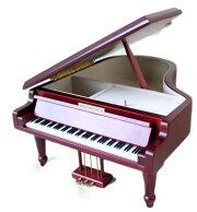SankyoAA-294B18弁グランドピアノオルゴール茶Lサイズサンキョーピアノ型オルゴール曲目:ノクターン