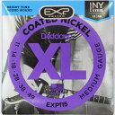 D'Addario EXP115 Coated Blues/Jazz Rock エレキギター弦