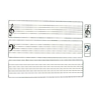 全音ZMM-6五线谱白板磁铁席带