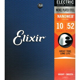 ELIXIR 12077 NANOWEB Light Heavy 10-52 エレキギター弦