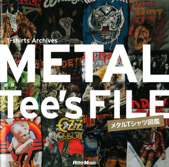 METAL Tee's FILE metal T-shirt illustrated book リットーミュージック