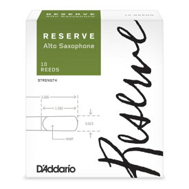 D'Addario Woodwinds/RICO LDADREASC3P レゼルヴ アルトサックスリード [3+]