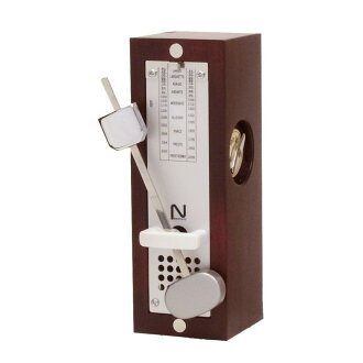 NIKKO wooden mini wine red 332 metronome