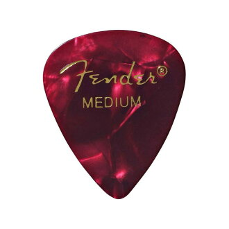 *12張Fender 351 Shape Premium Picks Red Moto Medium吉他選取