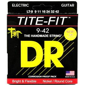 DR LT-9 LITE TITE-FIT エレキギター弦×3セット