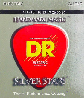 *3 set of DR SILVER STARS DR-SIE10 Medium electric guitar string