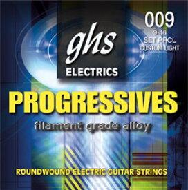 GHS PRXL 09-42 Progressives Series×3SET エレキギター弦