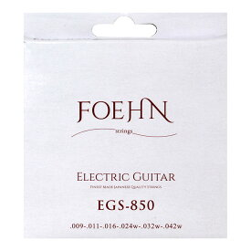 FOEHN EGS-850×3セット Electric Guitar Strings Super Light エレキギター弦 09-42