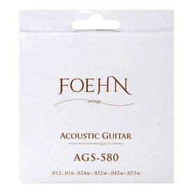 FOEHN AGS-580×3セット Acoustic Guitar Strings Light 80/20 Bronze アコースティックギター弦 12-53
