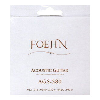 FOEHN AGS-580*3套Acoustic Guitar Strings Light 80/20 Bronze吉他弦12-53