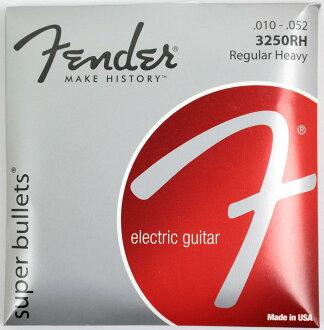 *6套Fender Super Bullets Nickel-Plated Steel Bullet 3250RH 10-52電子吉他弦