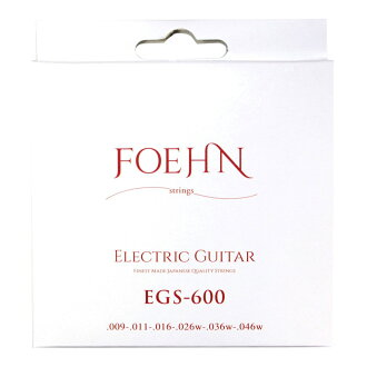 FOEHN EGS-600×3 세트 Electric Guitar Strings Custom Light 일렉트릭 기타현09-46