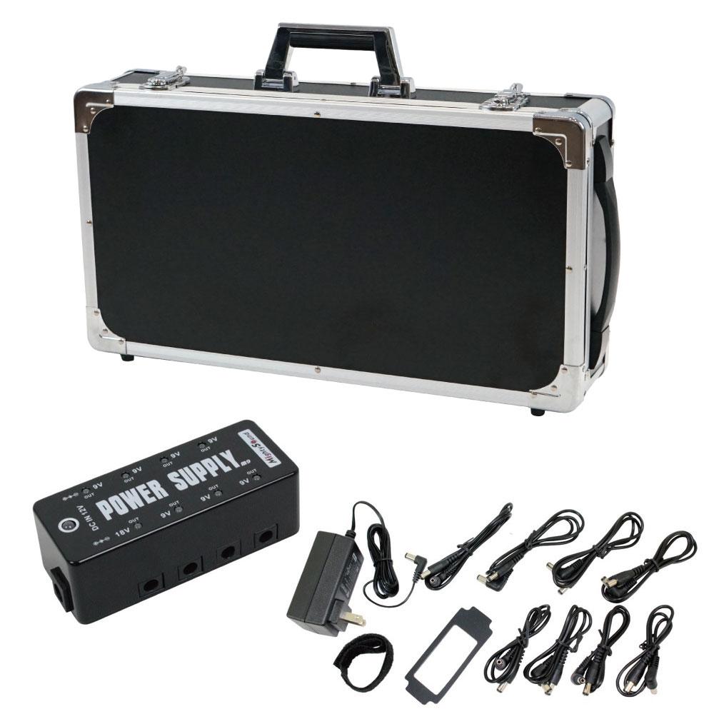Dicon Audio EC5025BK エフェクターケース Mighty Sound M9 パワーサプライ 2点セット