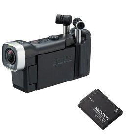 【長時間撮影が可能 専用バッテリー付き】 ZOOM Q4n Handy Video Recorder ハンディビデオレコーダー BT-02 専用バッテリー付きセット