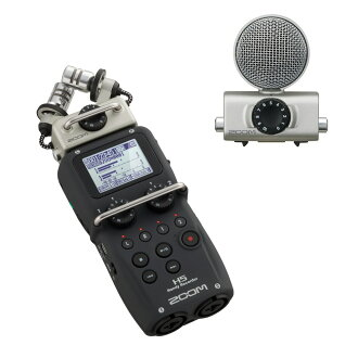 有ZOOM H5不利条件记录机MSH-6 H5专用的麦克风的安排