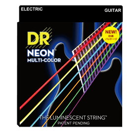DR NEON MULTI COLOR NMCE-2/9 LITE 2PACK エレキギター弦 2セット入り×3セット