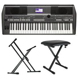 YAMAHA PSR-S670 PORTATONE 電子キーボード Dicon Audio X型キーボードスタンド キーボードベンチ 3点セット