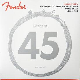 Fender Bass Strings Nickel Plated Steel 7250ML 45-100 エレキベース弦×2セット