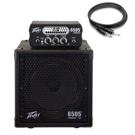 PEAVEY 6505 Piranha ギターアンプヘッド 専用キャビネット Hosa スピーカーケーブル付き 3点セット 【国内正規品】