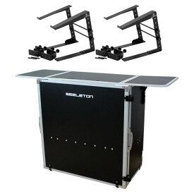 SEELETON SDJT 折りたたみ式 DJテーブル Dicon Audio LPS-002 ラップトップスタンド×2台 3点セット