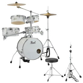 Pearl RT-645N/C #33 Rhythm Traveler Version.3S ピュアホワイト キッズ用ドラムスローン&ハイハットスタンドセット