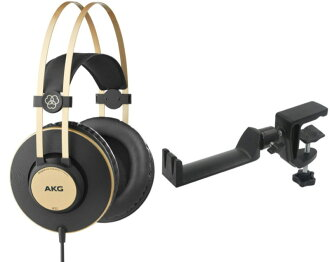 AKG K92 sealing type headphones SEELETON SMH-1 multiangle headphones hanger two points set