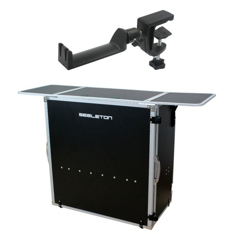SEELETON SDJT/SMH-1 折りたたみ式 DJテーブル ヘッドホンハンガー 2点セット