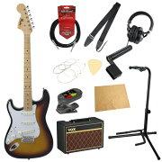 フェンダーから始める!大人の入門セットFenderMadeinJapanTraditional'68StratocasterLeft-Hand3TSBレフティエレキギターVOXアンプ付11点セット