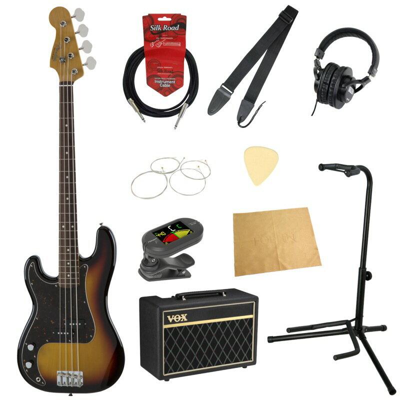 フェンダーから始める!大人の入門セット Fender Made in Japan Traditional '60s Precision Bass Left-Hand 3TSB レフティ エレキベース VOXアンプ付 10点セット