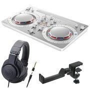 PioneerDDJ-WEGO4-WwhiteDJコントローラーAUDIO-TECHNICAATH-M20xヘッドフォンSEELETONヘッドホンハンガー3点セット