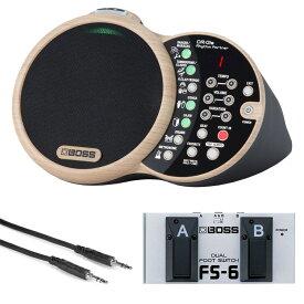 BOSS DR-01S Rhythm Partner リズムパートナー スピーカー内臓リズムボックス BOSS FS-6 フットスイッチ&Hosaステレオミニケーブル セット
