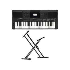YAMAHA PSR-E463 PORTATONE 61鍵盤 電子キーボード キーボードスタンド 2点セット [鍵盤 Aset]