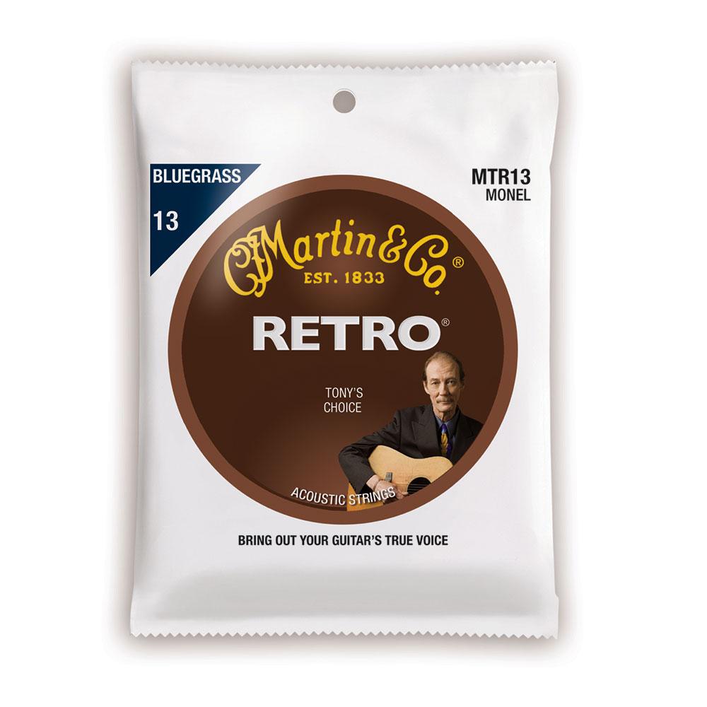 MARTIN MTR13 Retro Acoustic Monel Nickel Bluegrass Tony Rice's Choice アコースティックギター弦×3セット