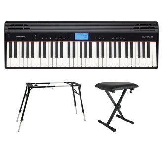 有ROLAND GO-61P GO:PIANO报名键盘钢琴KS-060 4部腿型台灯SB-001键盘长椅的安排