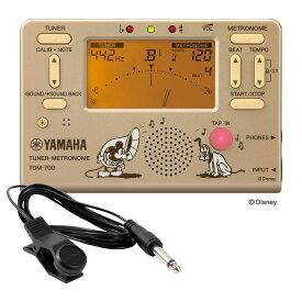 YAMAHA TDM-700DMK ディズニー ミッキーマウス チューナー メトロノーム FA-01 チューナー用コンタクトマイク付き 2点セット