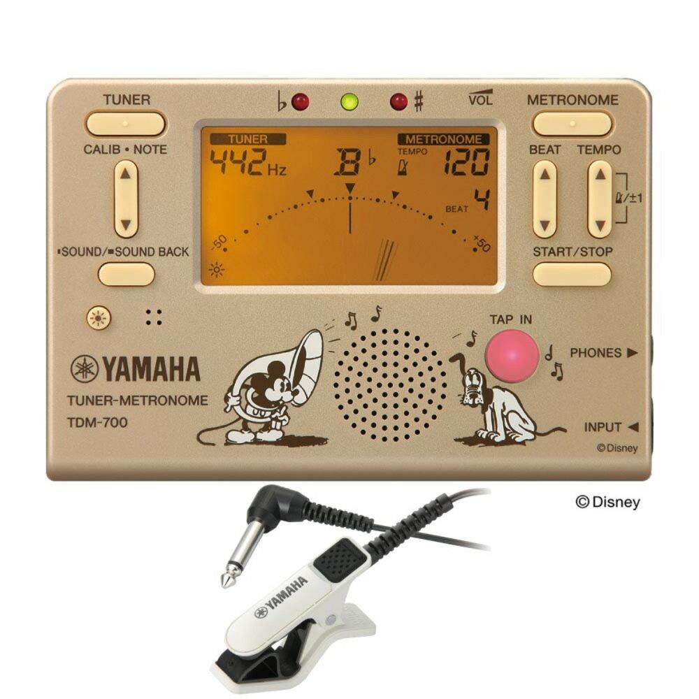 YAMAHA TDM-700DMK ディズニー ミッキーマウス チューナー メトロノーム TM-30WH チューナー専用マイクロフォン付き 2点セット