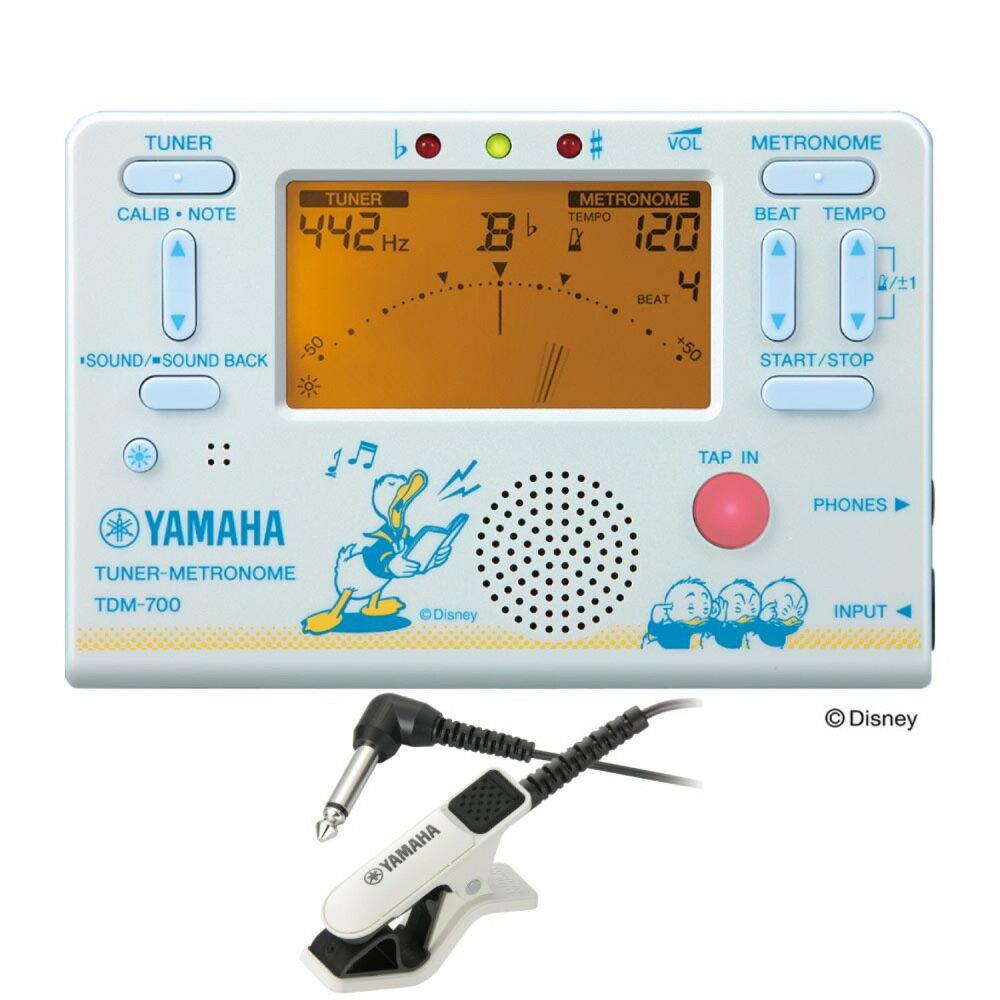 YAMAHA TDM-700DD2 ディズニー ドナルドダック チューナー メトロノーム TM-30WH チューナー専用マイクロフォン付き 2点セット