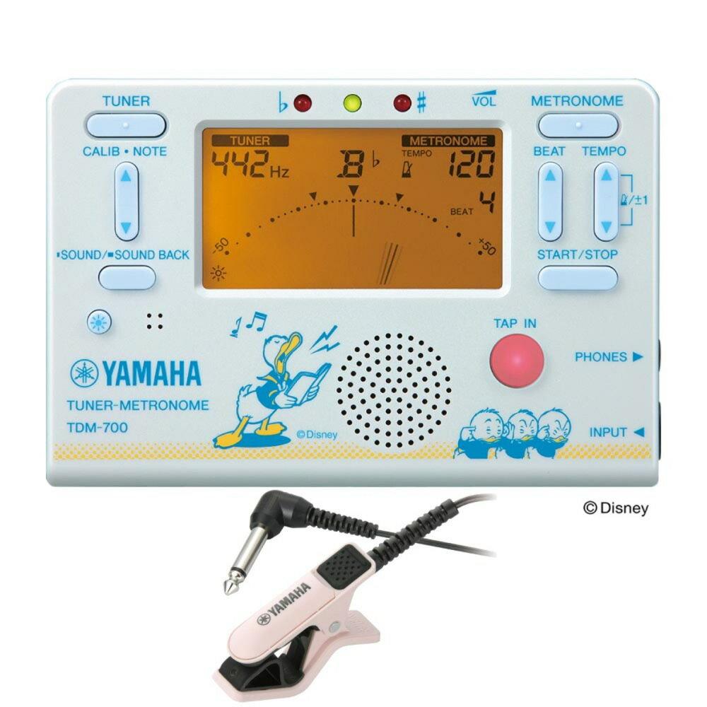 YAMAHA TDM-700DD2 ディズニー ドナルドダック チューナー メトロノーム TM-30PK チューナー専用マイクロフォン付き 2点セット