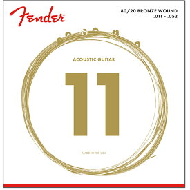 Fender 80/20 Bronze Acoustic Strings Ball End 70CL 011-052 Gauges アコースティックギター弦×3セット