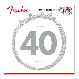 Fender 7250 Bass Strings Nickel Plated Steel Long Scale 7250-5L 040-115 5弦エレキベース弦×2セット