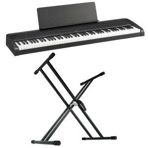 KORG B2 BK 電子ピアノ Dicon Audio KS-020 X型キーボードスタンド 2点セット