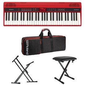 ROLAND GO-61K GO:KEYS Entry Keyboard エントリーキーボード 純正ケース/X型スタンド/X型椅子付きセット