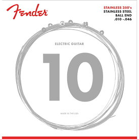 Fender Stainless 350's Guitar Strings Stainless Steel Ball End 350R Gauges 010-046 エレキギター弦×6セット
