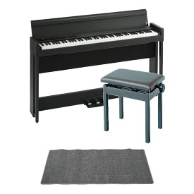 KORG C1 AIR BK 電子ピアノ KORG PC-300BK キーボードベンチ ピアノマット(グレイ)付きセット