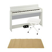 KORGC1AIRWH電子ピアノKORGJS-SB100WHキーボードベンチピアノマット(クリーム)付きセット
