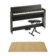 KORGC1AIRBR電子ピアノDiconAudioSB-001キーボードベンチピアノマット(クリーム)付きセット
